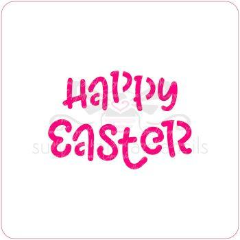 Happy Easter Cupcake Stencil