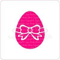 Easter Egg Cupcake Stencil