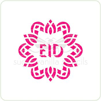 Pattern Eid Cupcake Stencil