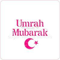 Umrah Mubarak Cupcake Stencil (Crescent)