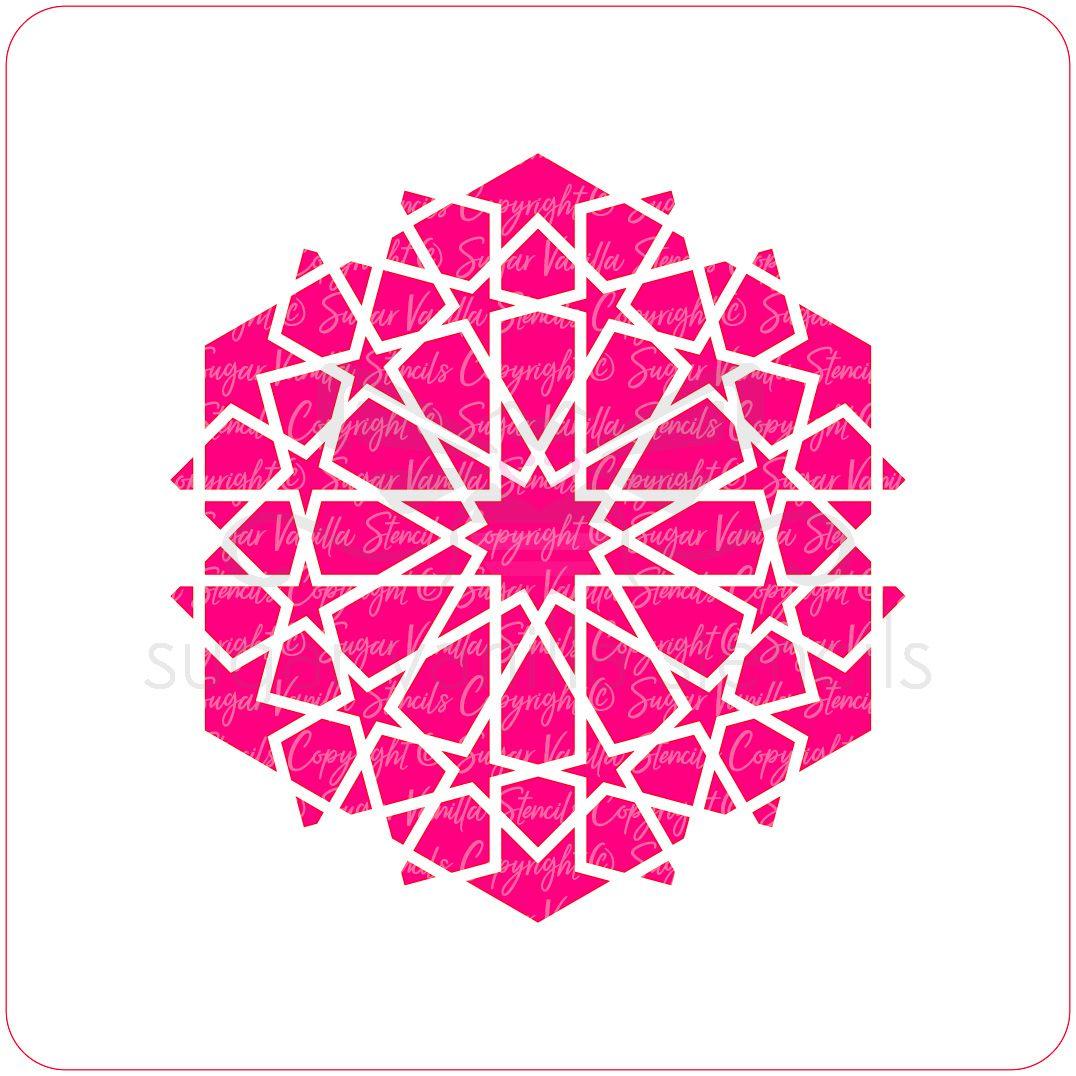 Arabic Geometric Cupcake Stencil (12 Star)