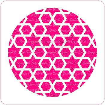 Arabic Geometric Cupcake Stencil (Star & Hexagon)
