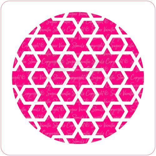 Arabic Geometric Pattern Cupcake Stencil (Star & Hexagon)