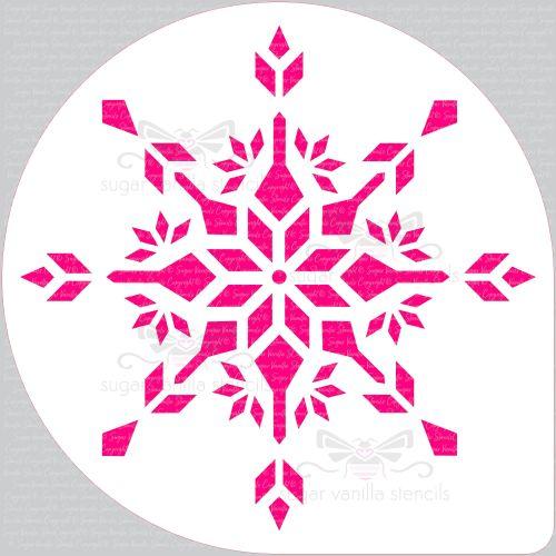 Crystal Snowflake Cake Top Stencil (8