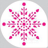 Jewel Snowflake Cake Top Stencil (8