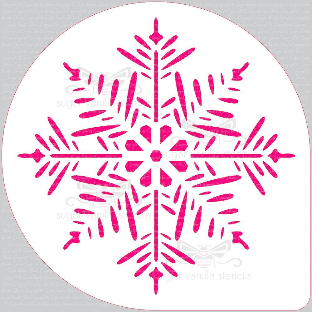 "Snowflake - Pine - Cake Top Stencil (8"" large)"