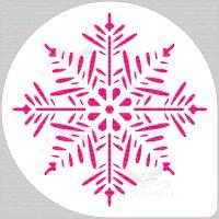 Pine Snowflake Cake Top Stencil (8