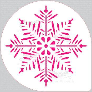 "Pine Snowflake Cake Top Stencil (8"" large)"