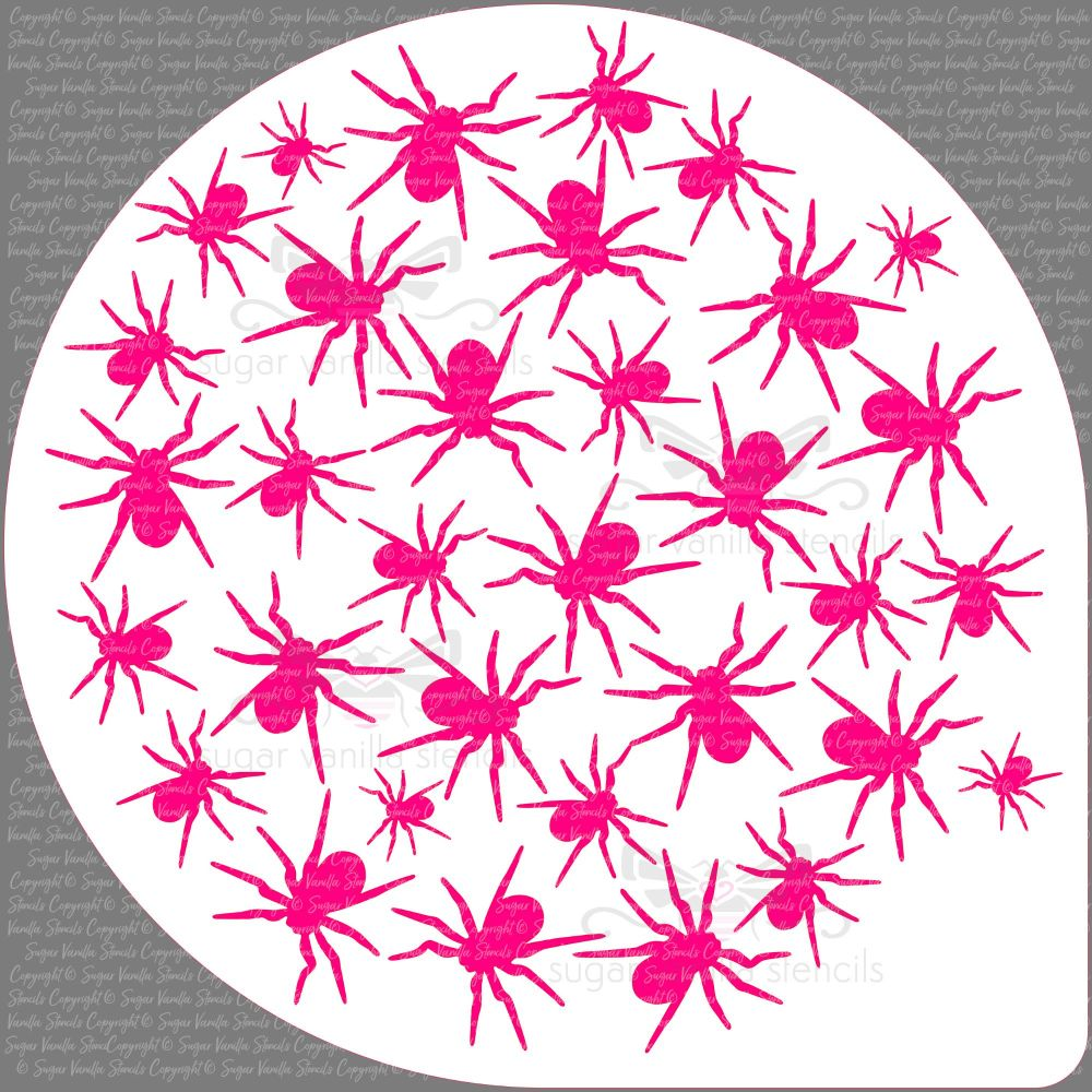 Spiders Cake Top Stencil (8