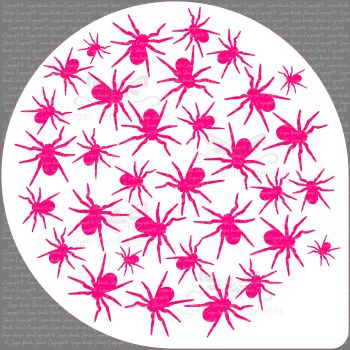 "Spiders Cake Top Stencil (8"" large)"