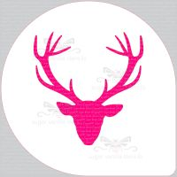 Stag Head Cake Top Stencil (8
