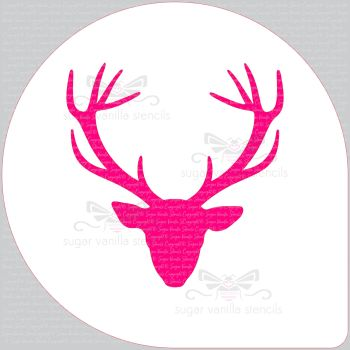 "Stag Head Cake Top Stencil (8"" large)"