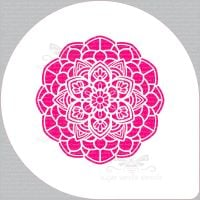 "Mandala Flower Cupcake Board Stencil (5.5"" design)"