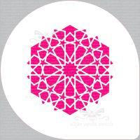 "Arabic 12 Star Pattern Cupcake Board Stencil (5.5"" design)"