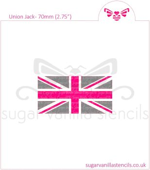 Union Jack Flag Cookie Stencil Set (2 piece)