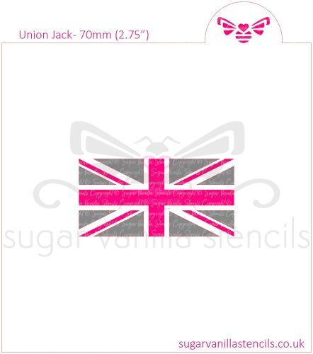Union Jack Flag Cookie Stencil Set
