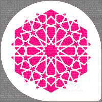 "Arabic 12 Star Pattern Cake Top Stencil (7"" design)"