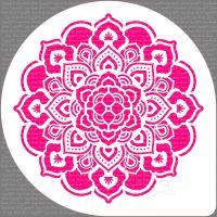 Mandala Rosette Cake Top Stencil (7.5