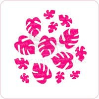 Tropical Leaves Cupcake Stencil