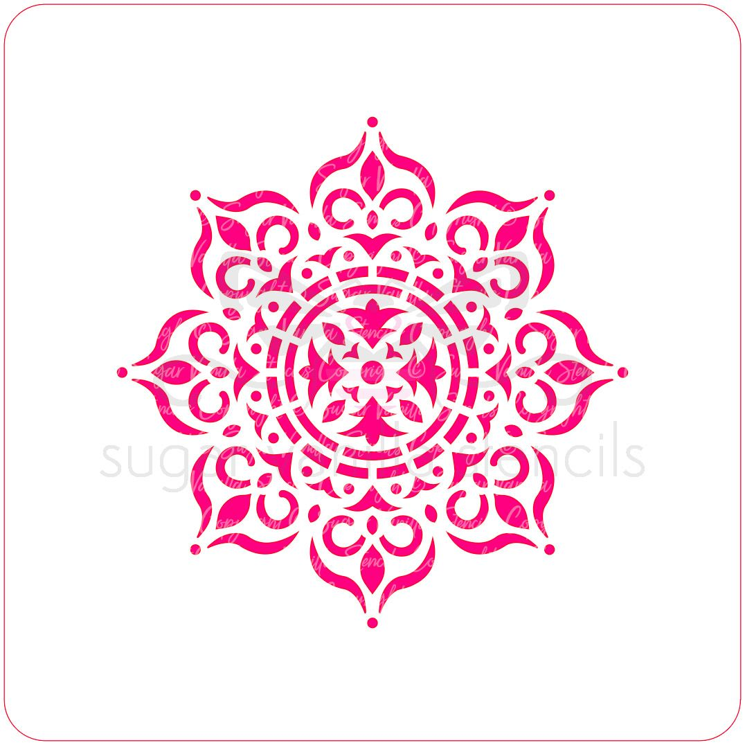 Mehndi Mandala Cupcake Stencil