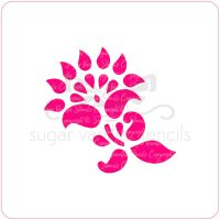 Mehndi Simple Flower Cupcake Stencil