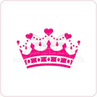 Crown Cupcake Stencil