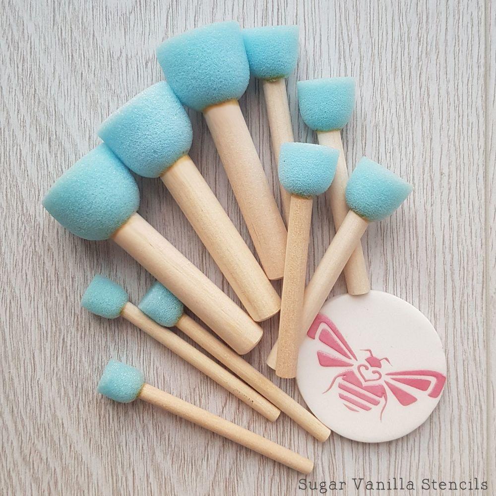 Stencil Sponge Set - Ten sponges