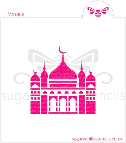 Mosque Cookie Stencil