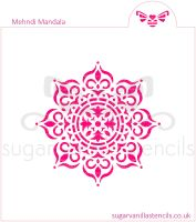 Mehndi Mandala Cookie Stencil