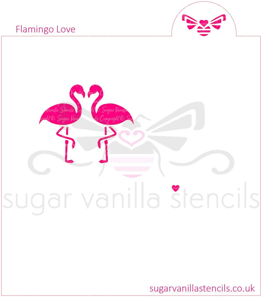 Flamingo Love Cookie Stencil