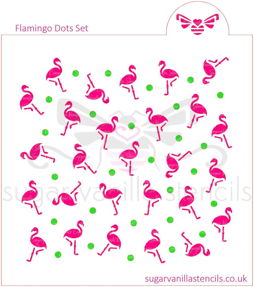 Flamingo Dot Cookie Stencil Set (2 piece)