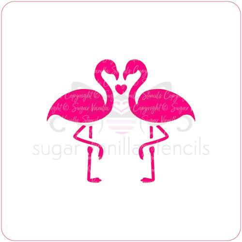 Flamingo Love Cupcake Stencil