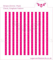 Stripes Cookie Stencil - Plaid / Check / Gingham (5mm)