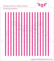 Stripes Cookie Stencil - Plaid / Check / Pinstripe (2mm)