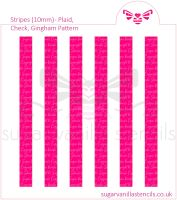 Stripes Cookie Stencil - Plaid / Check / Gingham (10mm)