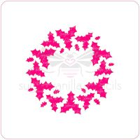 Holly Wreath Cupcake Stencil