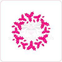 Holly Wreath Cupcake Stencil