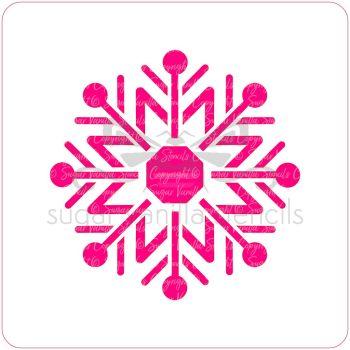 Nordic Snowflake Cupcake Stencil