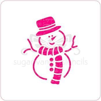 Snowman Cupcake Stencil