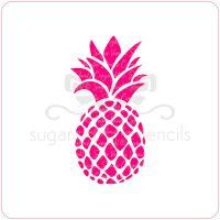 Pineapple Cupcake Stencil