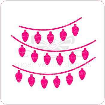 Christmas Lights Cupcake Stencil