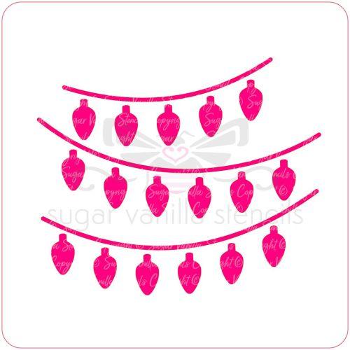 Christmas Lights Cupcake Stencil
