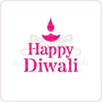 Happy Diwali Cupcake Stencil