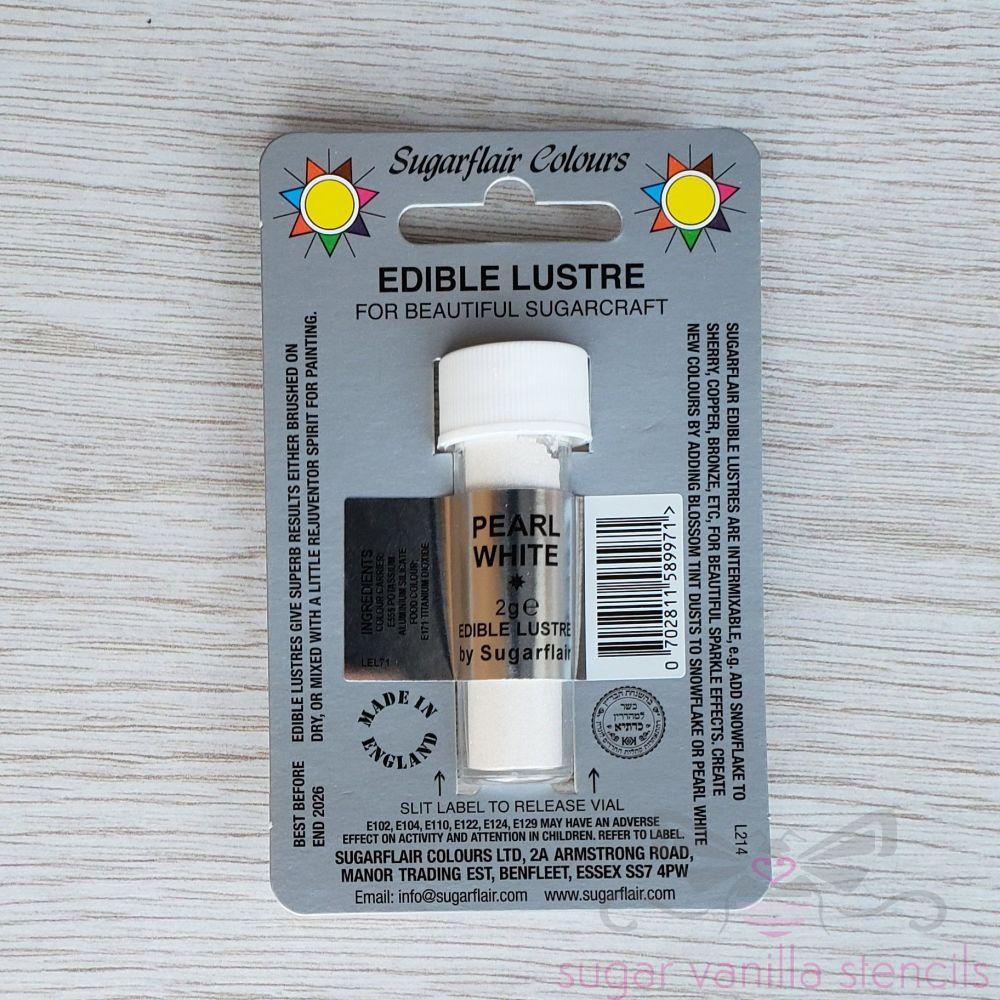 Edible Lustre Dust - PEARL WHITE - Sugarflair