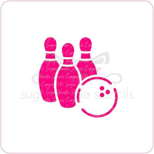 Ten Pin Bowling Cupcake Stencil