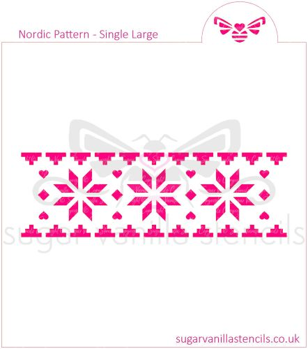 Nordic Pattern Cookie Stencil (Single Row / Large)