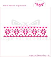 Nordic Pattern Cookie Stencil (Single Row / Small)