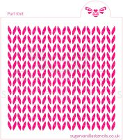 Purl Knit Cookie Stencil