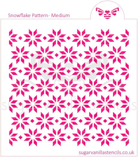 Snowflake Pattern Cookie Stencil - Small
