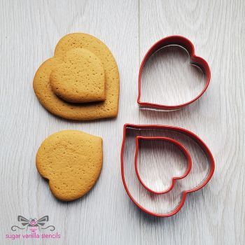 Heart Cookie Cutters - Set of 3